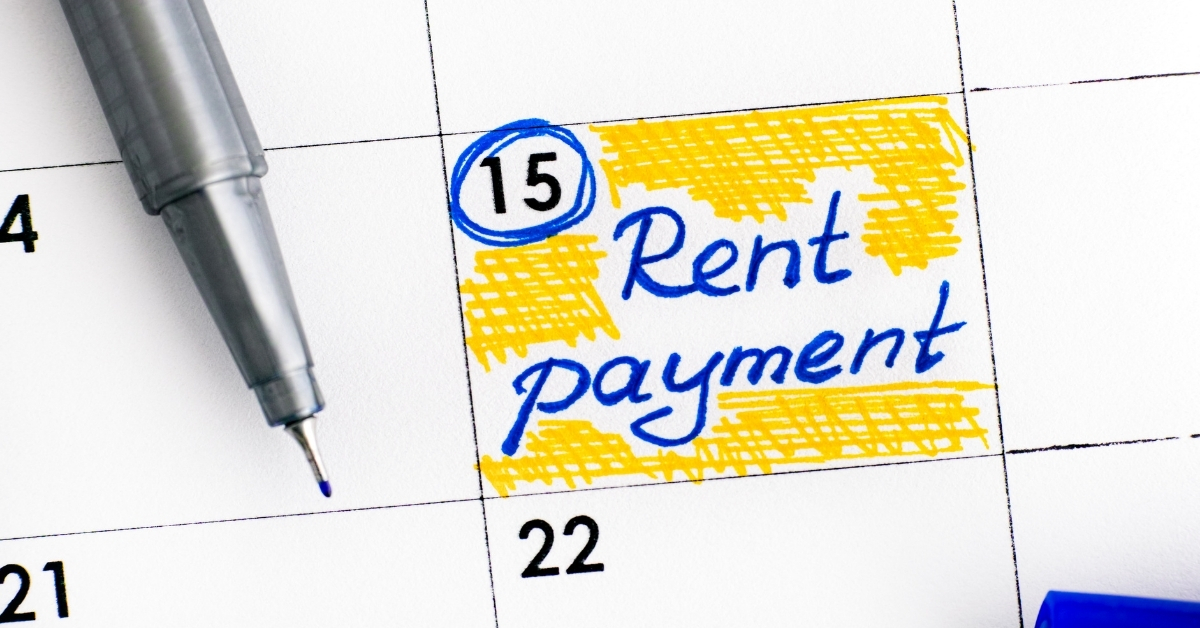 Floating Support Hub image: Rent date marked in a calendar.