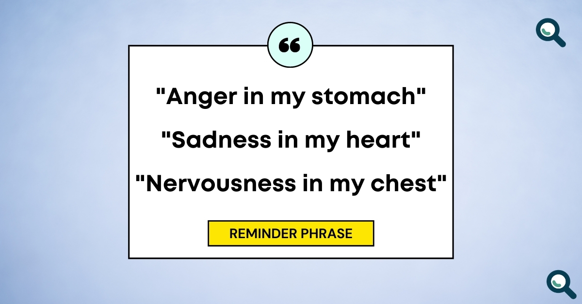 """TEXT for """"Your guide to EFT"""": Reminder phrase: """"Anger in my stomach"""" / """"Sadness in my heart"""" / """"Nervousness in my chest"""""""