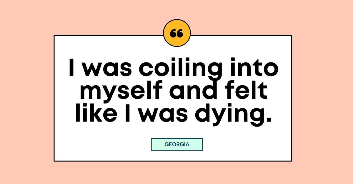 """TEXT for """"Living with Depression"""": I was coiling into myself and felt like I was dying."""