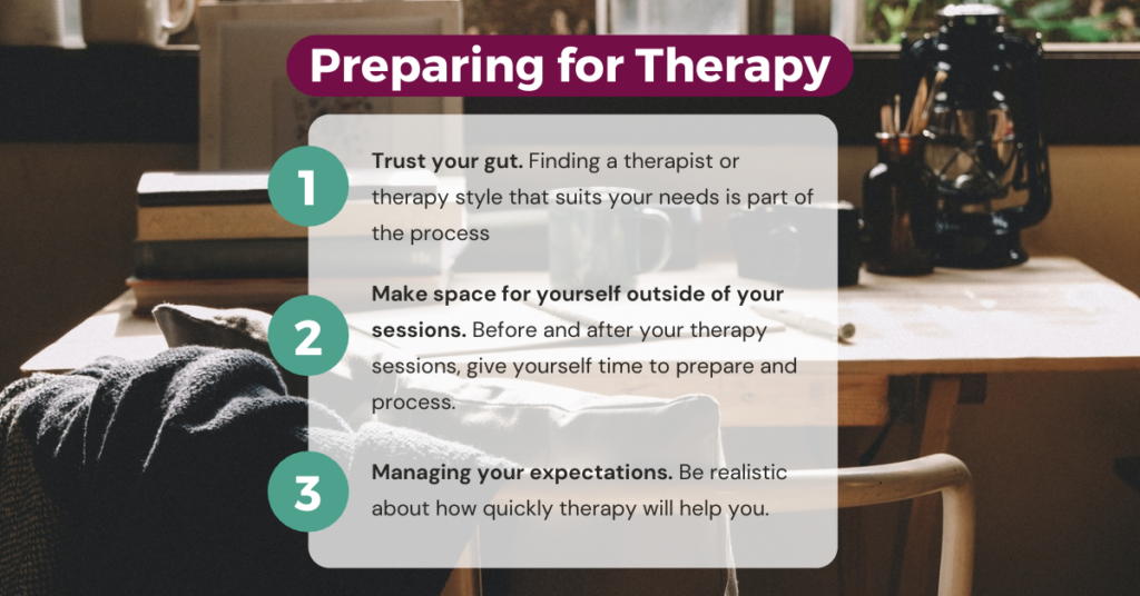 Preparing for therapy tips Image